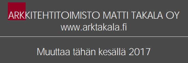 Arkkitehtitoimisto Matti Takala Oy muuttaa!